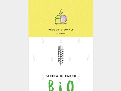 Label for organic products flat italy bio organic