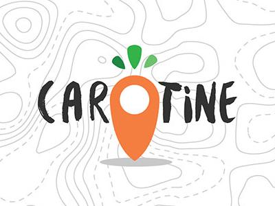 Carotine chianti tuscany local farm organic flat map pin carrot