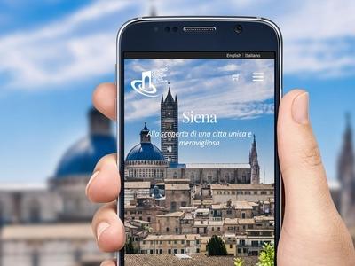 Centro guide turistiche Siena Website portfolio web site italy web design mockup siena