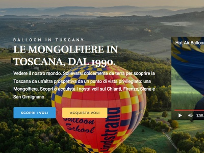 Balloon in tuscany website country tuscany italy calltoaction website webdesign hotairballon balloon chianti