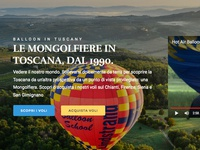 Balloon in tuscany website