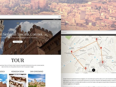 Web Design for Centro Guide Siena user map tourism italy siena webdesign ui ux