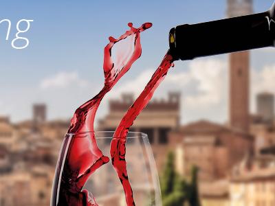 Taste Siena postcard wine siena postcard