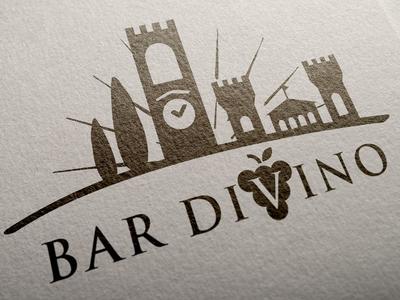 Logo tuscany logo divine chianti bar