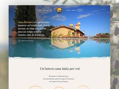 A new web site for Casa Pietraia chianti webdesign website tuscany villa