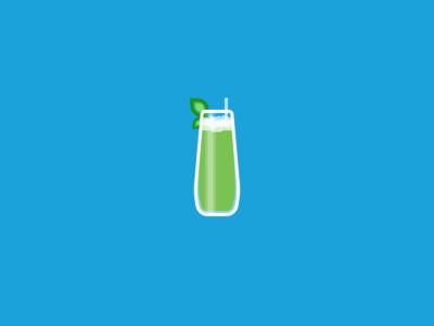Matcha Mint Julep tea alcohol julep glass breakfast brunch icon straw green ice mint matcha