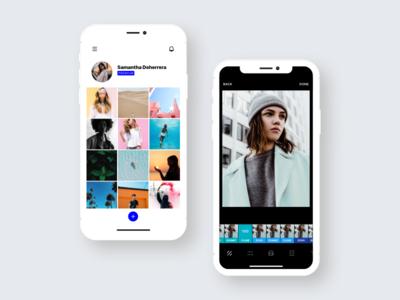 Instasize Grid & Filters edit photo app screenshot ux ui filters grid photo grid screenshots app instasize