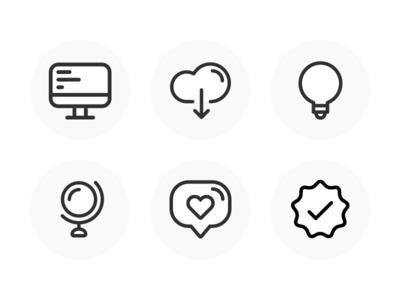 Social Media Icon Set line icons icon design iconography icon set like icon cloud icon check icon verified icon heart icon globe icon light bulb icon download icons computer icon icons icon