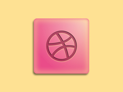 Dribbble is sweet warm sweet fresh 3d pink yellow summer cute candy mint dribbble icon