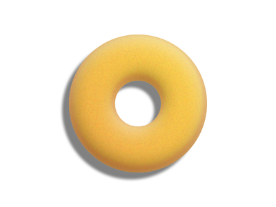 Needs some milk o milk white yellow sweet donut cereal icon 3d