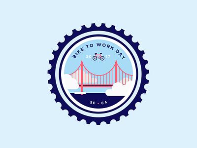 Bike to Work Day 2017 illustration bike bike to work day