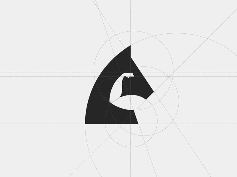 Horsepower - Magic Behind the Grid  brandmark branding brand horse icon symbol logodesign logo horsepowered system geometry grid