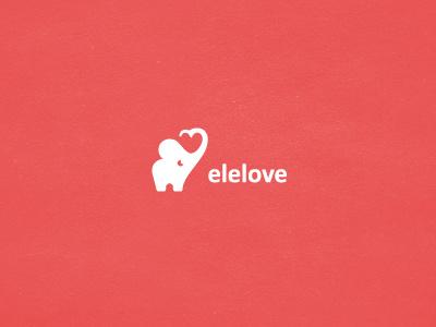 Elelove mark + typeface symbol mark logo brand elephant