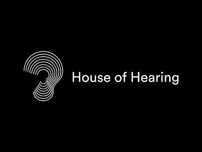 House of Hearing symbol icon mark brandmark symbol logo lock ear clinic house hearing