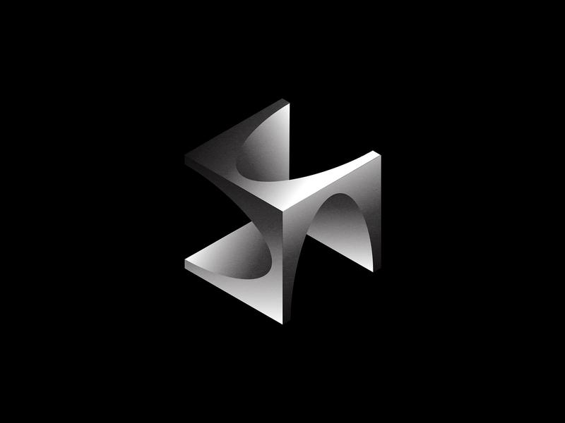 Arches + Blockchain logo 3d geometric brand and identity brand mark logotype logo brandmark hexagon branding crypto blockchain