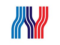 NY + Transportation branding brandmark logotype symbol retrofuture lines metro transportation logo ny