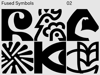Fused Symbols 02 logodesign acid branding brand identity brandidentity brandmark brand logotype logo