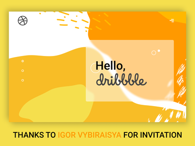 Hello Dribble graphic design art website branding logo minimal design illustration web ui