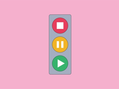 Traffic Light Music Controls kawaii art kawaii cute design cute illustration graphic design