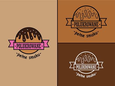 Logo_Polukrowane vector donuts branding logo design