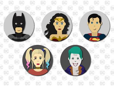 dc_heroes comix superheroes heros suicide squad suicidesquad wonder woman wonderwoman superman batman harleyquinn harley quinn joker dccomics vector illustration design