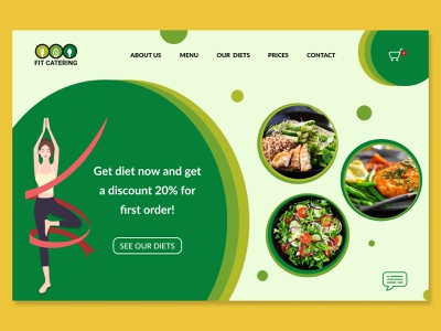Fit catering website web design webdesign desktop web ux ui vector logo design