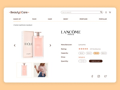 beauty&care web design webdesign website web desktop branding app ux ui logo vector design