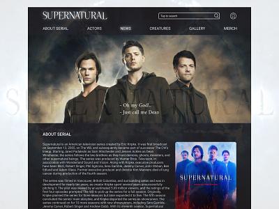 supernatural_fan_page supernatural fan page fanpage web web design website webdesign illustration desktop ux ui vector design