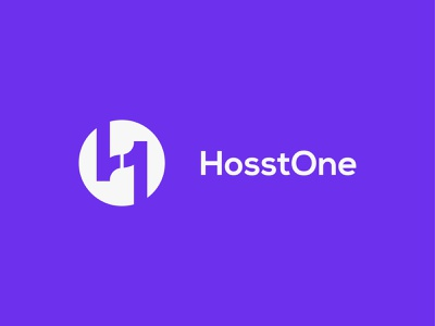 HosstOne Logo Design tech technology modern logo creative logo concept illustrator flatdesign lettermark typogaphy logotype corporatelogo gradientlogo businesslogo appicon icon brandmark branding logo design logo