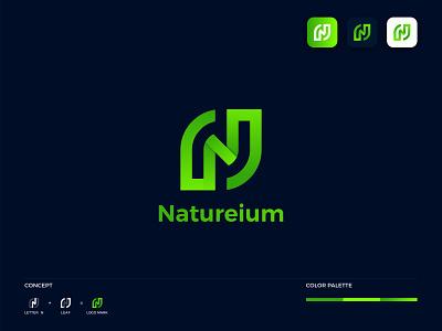 N Leaf Logo nature n modern logo n letter logo leaf logo nature logo logos modern logo gradientlogo appicon icon brandmark branding logo design logo