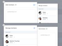 Adding & managing members