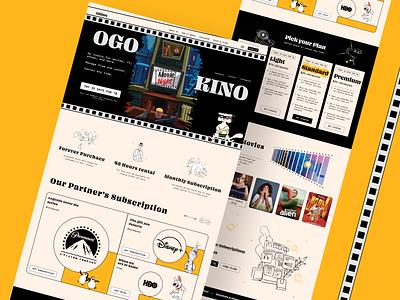 OgoKino landing page flat design ux web ui