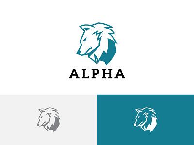 Alpha Wolf Strong Mighty Leader Commander Animal Wildlife Logo ui illustration horned green flying dragon design branding app logo wildlife animal commander leader mighty strong wolf alpha