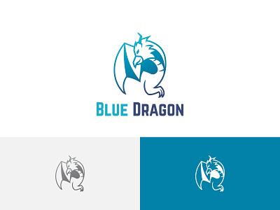 Flying Dragon Eagle Hawk Falcon Game Esport Team Logo ui illustration horned green design branding app logo team esport game falcon hawk eagle dragon flying