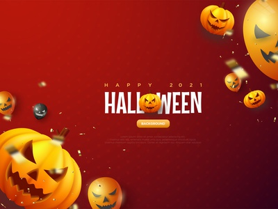 Halloween Pumpkin Red Background Illustration spooky event party character scary horror illustration vector poster template graphic design bacground art walpaper creepy pumpkin sprinkle red helloween