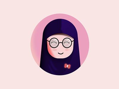 Vector Hijab Illustration vector illustration hijabvector vectorhijab vector affinitydesigner affinityvector vector art simplevector vectordesign