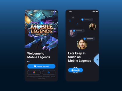 Mobile Legends Dark Apps UI mobile mobile legends game design mobile app uidesign ui uiux app