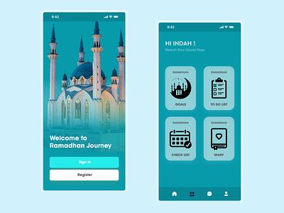 Ramadhan Journey App ramadhan planner app todolist figma mobile design mobile app app uidesign ui uiux