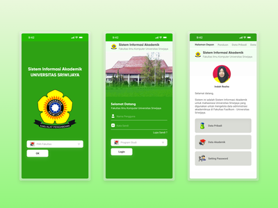 Academic Information System academics university college academic illustration figma mobile design mobile app app uidesign ui uiux