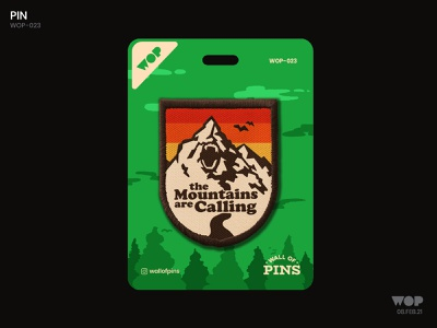WOP 023 minimal mountain illustration patchdesign patch cool adobe wallofpins illustration badgedesign