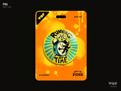WOP 028 clock time photoshop typography logo pinbutton design adobe wallofpins illustration badgedesign