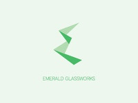 Emerald Glassworks logo concept