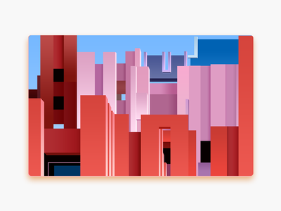 La Muralla Roja spain daily illustration photoshop roja muralla la