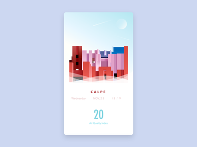 Weather: Calpe gradient dream travel spain aqi illustration calpe weather