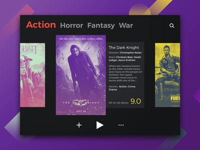 DailyUI #025 movie spotify effects duotone app tv dailyui 025