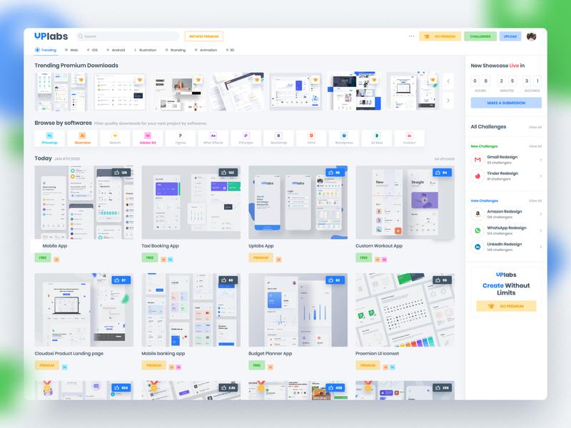 UpLabs Homepage Redesign webdesign ui ideas concept design uidesign uplabs design mockup concept inspiration userinterface ux ui