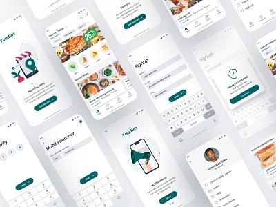 Food Delivery App user interface mockup food app ios mobile app concept inspiration userinterface ux ui food app ui