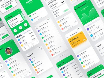 Mobile Banking App - iOS inspiration ui design ios 14 ios app design mobile ui ios mockup concept userinterface ux ui mobile app bankingapp