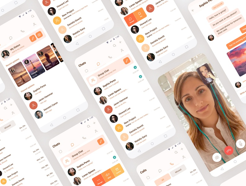 Chat App - Android ux design ui design android app design android app app mobile app design mockup mobile ui chat app concept inspiration userinterface ux ui