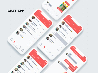 Chat app UI Design for iPhone X